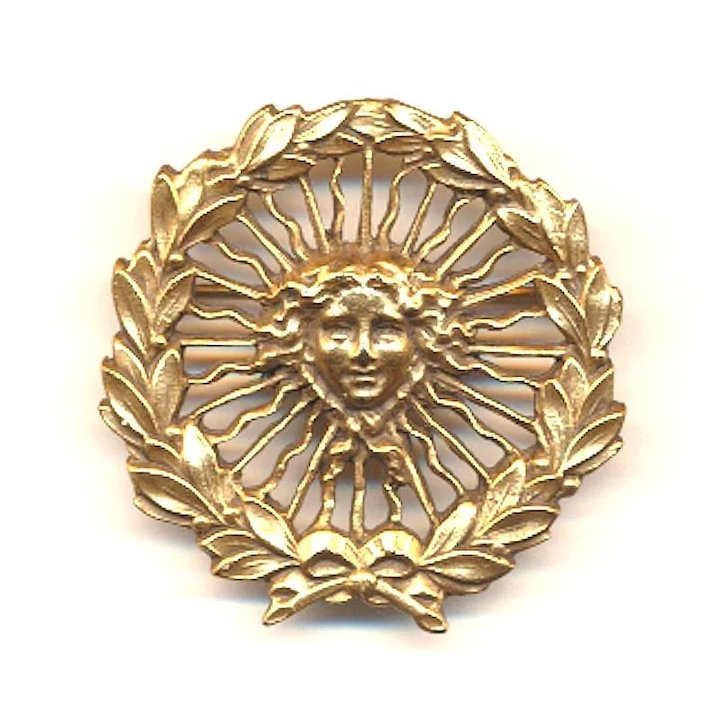 1980s Alva Museum Pin Sun King Of France Louis Xiv Symbol Brooch