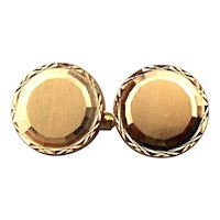 Estate 18K Rose Gold Cufflinks - Industria Argentina - 750 Gold