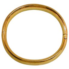 Vintage Craftmere 12K Gold-Filled Bangle Bracelet Etched Hinged