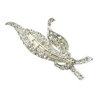 Vintage GOLDETTE Crystal Rhinestone Pin Brooch