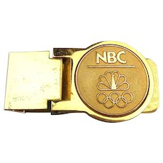 Vintage NBC Olympics Hinged Money Clip Olympic Games