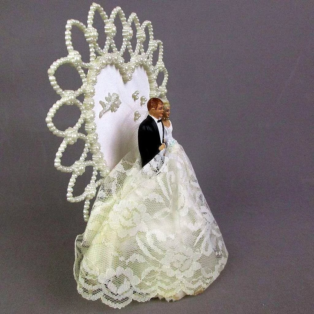 pearl heart wedding cake topper vintage and groom wedding cake topper faux pearl 18164