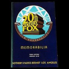 20th Century Fox Movie Memorabilia Auction Catalog 1971