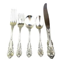 Wallace Sir Christopher 1936 Sterling Silver 5 Piece Place Setting