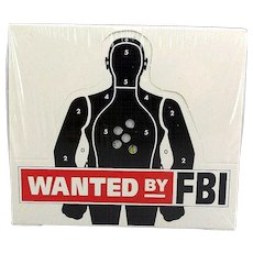 1993 FBI WANTED Trading Cards - Sealed Box of 46 Packs - 320 Fugitive Cards - Red Tag Sale Item