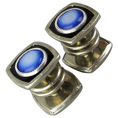 Art Deco Snazzy Snapping SNAP LINK Cufflinks