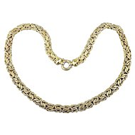 Vintage Gold-Plated Sterling Silver Mesh Necklace Smooth / Textured
