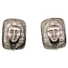 Vintage Cufflinks by Mia - Strange Face - Original Box