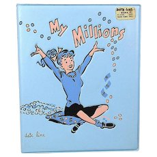 1960s DATE LINE Vinyl Bank ~ My Millions ~ Teenage Girl - Poodle