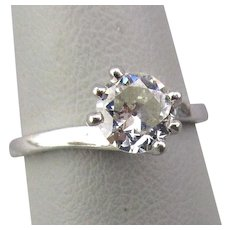 Antique Solitaire Diamond Ring in Platinum .58 ct.