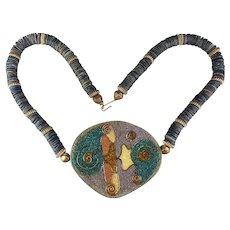 Vintage Unique Laminate Necklace - Artistic Wired Design