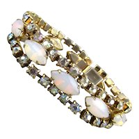 Vintage Rhinestone Bracelet - Opally and Sparkly