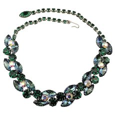 1950s Rhinestone Necklace - Collar of Party Glam