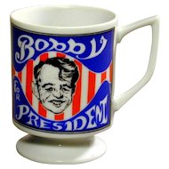 Vintage 1968 Robert Kennedy ~ Bobby for President ~ Coffee Mug RFK