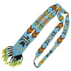 Native American Woven Beaded Necklace - Eagle Arrows
