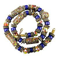 Vintage Venetian Glass Trade Bead Necklace