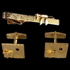 Vintage Mens Judaica Cufflinks Clasp Set