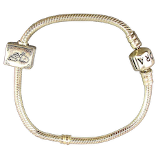 Estate Pandora Sterling Silver Bracelet - Fairy Tale Charm