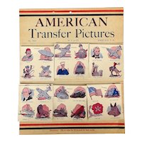 1940s ~ American Transfer Pictures ~ 144 Decals - Tattoos Military Patriotic WWII Store Display Card