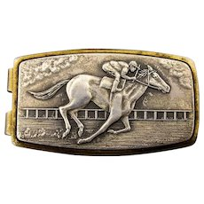 Vintage Anson Sterling Silver Horse Racing Money Clip