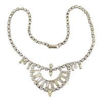 Vintage KRAMER Crystal Rhinestone Choker Necklace