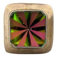 Vintage Taxco Sterling Silver Ring w/ Wild Swarovski Crystal