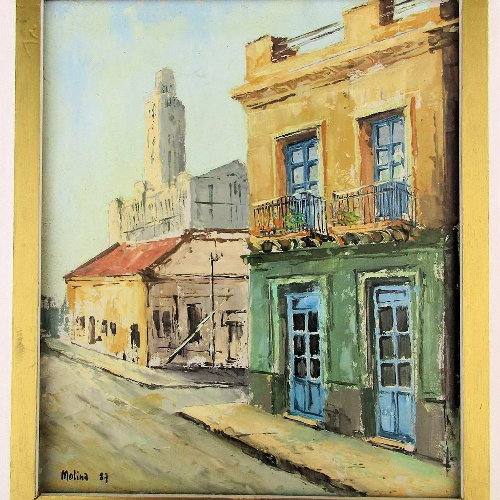 Charming Oil Painting Ciudad Vieja (Old Town) Uruguay ... - photo#39