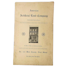 c1907 Catalog American Artificial Limb Company w/ Illustrations Prosthetics