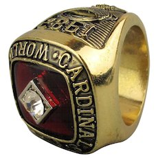 1982 St. Louis Cardinals World Series Championship Souvenir Ring