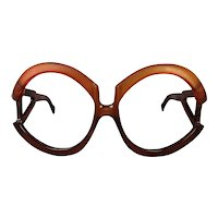 Oversized 1960s Playboy Eyeglass Frames Made in Austria