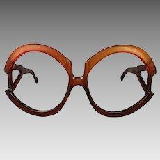 Oversized 1960s Playboy Eyeglass Frames Made in Austria
