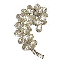 Vintage Kramer of New York Rhinestone Crystal Pin Brooch