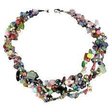 Great Big ~ Kitchen Sink of Beads ~ Bead Necklace Glass Lucite Metal Everything - Red Tag Sale Item