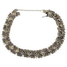 Sterling Silver Marcasite Bracelet - Multi Link Gorgeous Flex Design