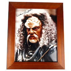 Autographed STAR TREK Photo William Campbell Koloth Deep Space Nine Framed