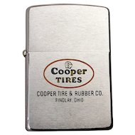 1950s ZIPPO Lighter Advertising Cooper Tires Findlay Ohio