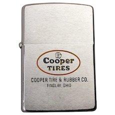 1950s ZIPPO Lighter Advertising Cooper Tires Findlay Ohio