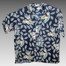 Pierre Cardin Rayon Hawaiian Aloha Shirt Pin-Up Girls 3XLT