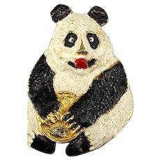 1972 Mimi Di N Panda Bear Belt Buckle - Pendant