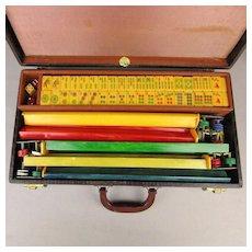 Old ROYAL Bakelite Mah Jong Mahjongg Game Set Complete in Case - Free U.S. Shipping