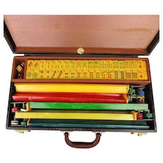 Old ROYAL Bakelite Mah Jong Mahjongg Game Set Complete in Case - Free U.S. Shipping