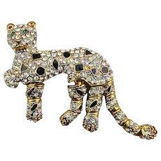 The Case for a 3-Legged Rhinestone Leopard Pin