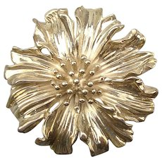 Tiffany & Co. 925 Sterling Silver Flower Pin Brooch Vintage