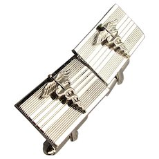 Vintage Sterling Silver Cufflinks Medical CADUCEUS