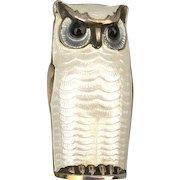 David Andersen Sterling Silver Enamel Owl Pin Brooch Norway