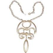 Big 1970s Dangling Sculptural Pendant Necklace