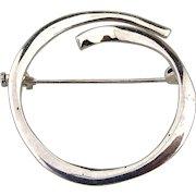 Modernist JOID'ART Spain Sterling Silver Pin Brooch