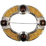 Big Bold Vintage GROSSE Pin Brooch Striking Design