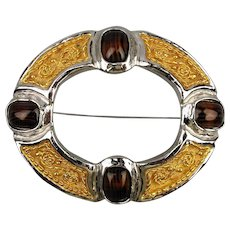 Big Bold Vintage GROSSE Pin Brooch Striking Design