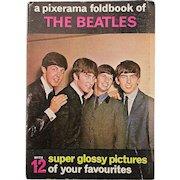 Original 1964 Beatles PIXERAMA Foldout Photo Booklet